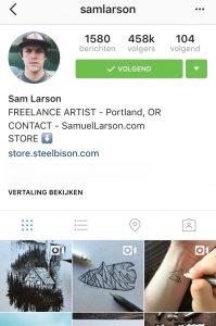 Instagram Sam Larson