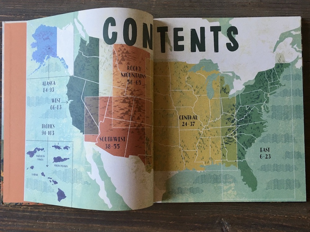 Boek National Parks of the U.S.A. - Contents