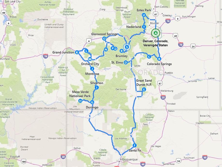 Colorado - New Mexico route