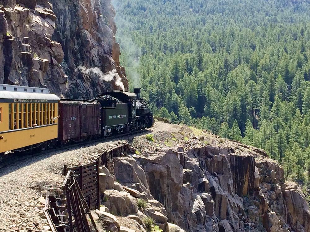 Durango & Silverton Narrow Gauge Railroad - Uitzicht