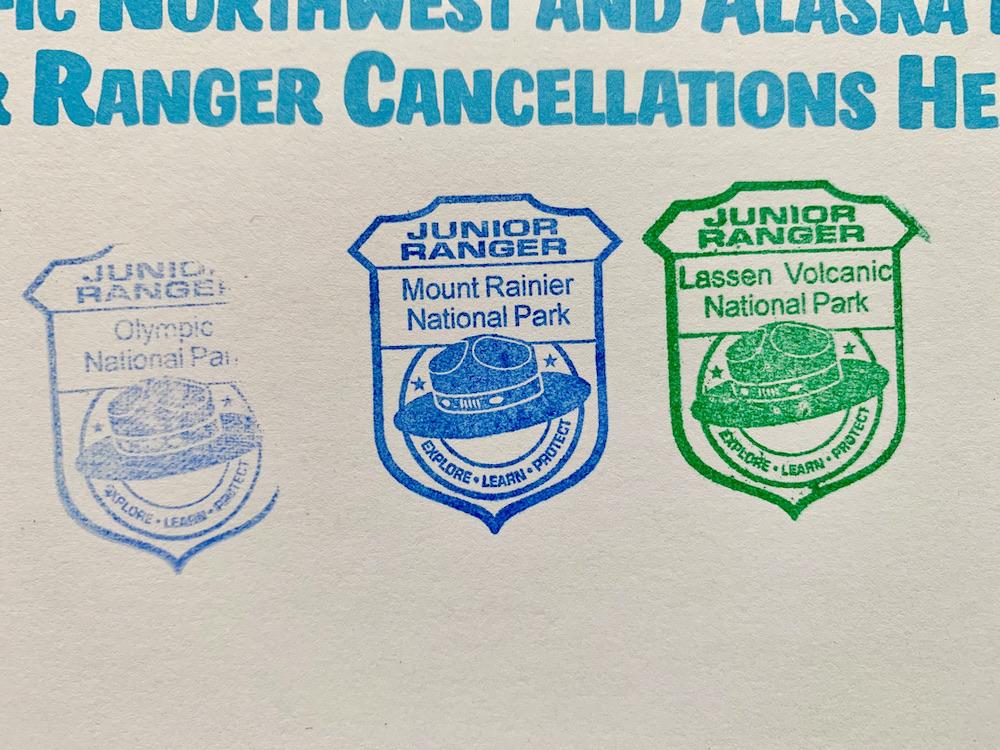 Junior Ranger Passport - Stempels close