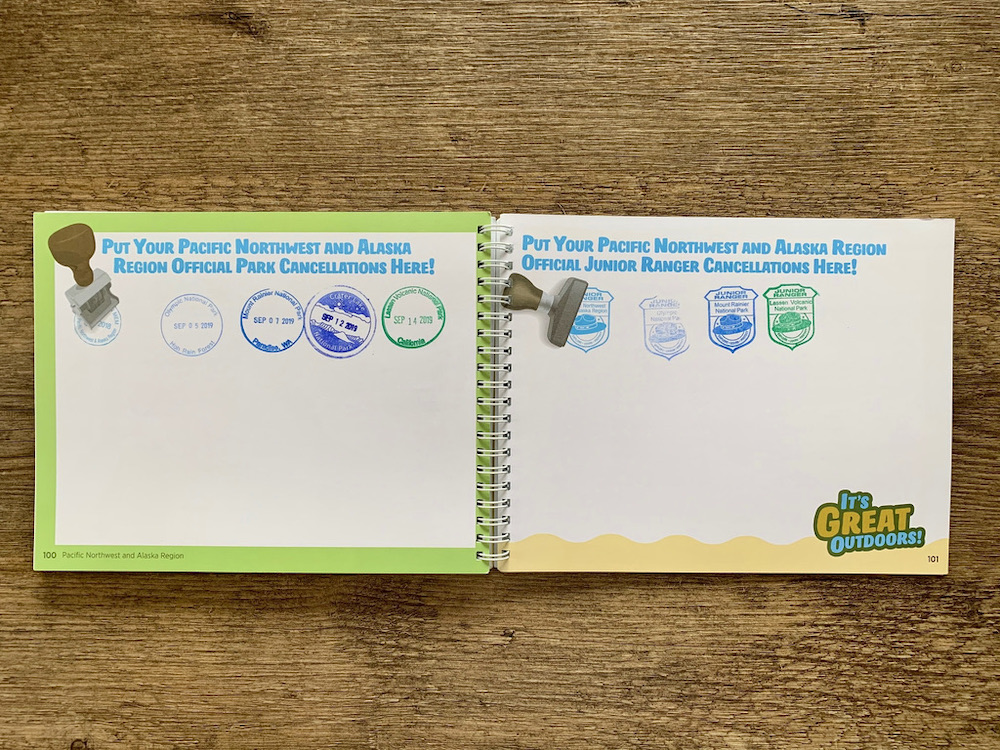 Junior Ranger Passport - Stempels